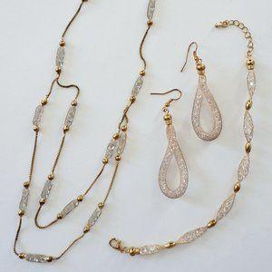 Gold, Glass Jewelry set